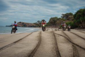 Motorcycle beach ride on dirt bike adventure tour