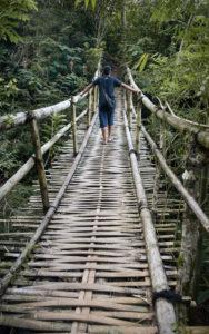 Trekking through the rainforest to Wae Rebo Village