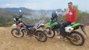 Riding along Taliwang Beach