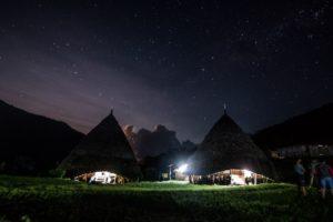 The Milky Way seen from Wae Rebo village