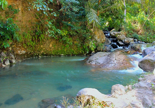 Swimming In A Natural Hotspring